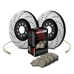 For Subaru Svx 92-97 Stoptech 989.47018f Sport Drilled 1-piece Front Brake Kit