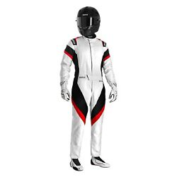 Sparco Victory Bc Series White/black/red 58 Certified Racing Suit