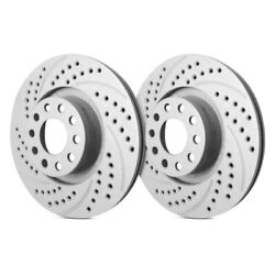 For Audi A6 05-11 Double Drilled And Slotted 1-piece Front Brake Rotors