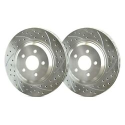 For Honda Cr-v 02-04 Double Drilled And Slotted 1-piece Front Brake Rotors