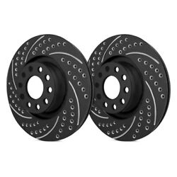 For Audi S8 13-17 Double Drilled And Slotted 1-piece Front Brake Rotors