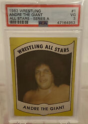 1982 Wrestling All Stars Andre The Giant Series A 1 Psa 3 Vg Rare Andre Card