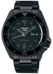 New Seiko 5 Sports Exclusive Edition Automatic All Black Metal Sbsa075 Japan Dhl
