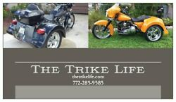 Trike Fiberglass Body Kit For Harley Flh Touring With Brackets And Hardware Incl