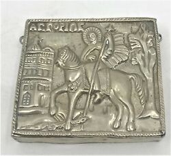 Antique Sterling Silver Russian Greek Church Christ Orthodox Reliquary Icon