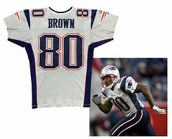 Troy Brown Game Used Worn New England Patriots Nfl Silver 2006 Jersey Coa 🔥🔥