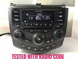 Accord Radio 6 Disc Player Manual Climate Temp Control 7bc0 With Code Ho328a