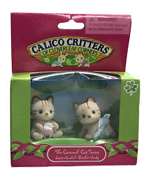 Calico Critters The Caramel Cat Twins CC2012 New Factory Sealed