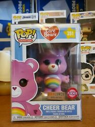 Funko Pop Animation Cheer Bear Flocked Box Lunch Exclusive 351 Care Bears