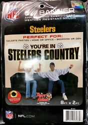 Nfl Pittsburgh Steelers 8ft X 2ftm You're In Banner