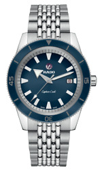 New Rado Captain Cook Automatic Stainless Steel Blue Dial Men's Watch R32505203