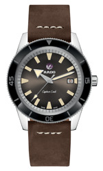 New Rado Captain Cook Automatic Brown Dial Leather Band Men's Watch R32505305