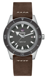 New Rado Captain Cook Automatic Gray Dial Leather Band Men's Watch R32505015