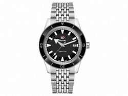 New Rado Captain Cook Automatic Stainless Steel Black Dial Men's Watch R32505158