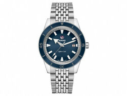 New Rado Captain Cook Automatic Stainless Steel Blue Dial Men's Watch R32505208