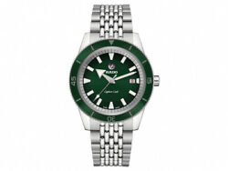 New Rado Captain Cook Automatic Stainless Steel Green Dial Men's Watch R32505318