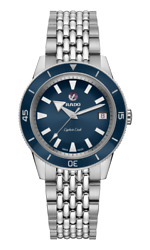 New Rado Captain Cook Automatic Stainless Steel Blue Dial Unisex Watch R32500203