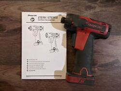 Snap-on 1/4 Drive Cts761 Cordless Screwdriver