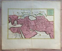 Middle East Arabia 1700 P Duval / Covens Mortier Large Nice Antique Map 18e Cent