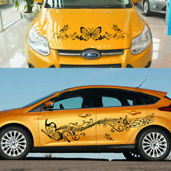 Graphics Vinyl Musical Note Sticker Fit For Ford Focus Fiesta Butterfly Decals