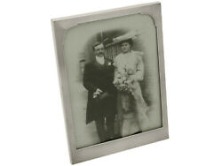 Vintage Solid Silver Photo Frame Walker And Hall Sheffield England Height 21.6cm