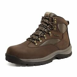 NORTIV 8 Men#x27;s Hiking Boots 24H Outdoor Waterproof Mid Ankle Leather Hiker Boots $48.78