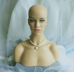 Newest Realistic Women Mannequin Head Display Wig Hat Necklace Fast Shipping