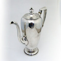 Pointed Antique Demitasse Coffee Pot Reed Barton Sterling Silver