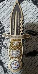 Seal Delivery Vehicle Team One Sdvt-1 Knife Shaped Challenge Coin