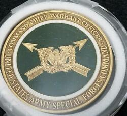 Rare Us Army Special Forces Command Airborne Command Chief Warrant Officer Usa