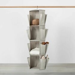 Hanging Spinning Closet with Shoe Storage Gray Made By Design storage
