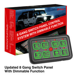 8 Gang Switch Panel Automatic Dimmable Circuit Control Relay System Boat Marine