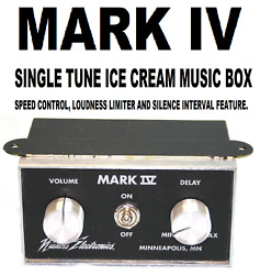 Ice Cream Truck,  Music Box - Mark Iv With Single Tune Of Your Choice.