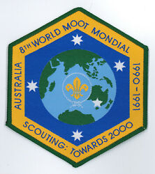 1990 World Scout Moot World Rover Scout Jamboree Official Scouts Backpatch Bp