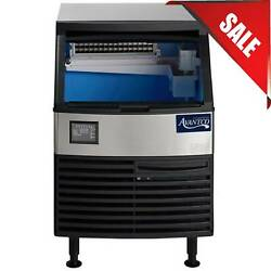 26 80 Lb. Stainless Steel Air Cooled Undercounter Full Cube Ice Machine W/ Bin