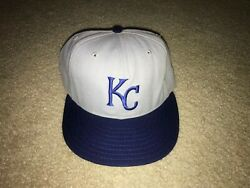 Kansas City Royals New Era 5950 Diamond Collection 100 Wool Fitted Hat - 7 3/8