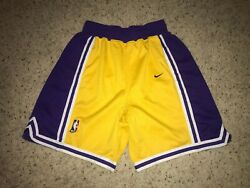 Los Angeles Lakers Nike Team Sports Vintage Authentic Basketball Shorts Men's 30