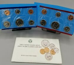 1989 Us Mint Uncirculated Coin Set.