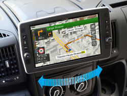 """Alpine X903d‐du2 9"""" Touch Screen Navigation With Swivel Display For Fiat Ducato"""