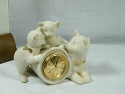 A Super clock by Lennox of the States quot; Two little Kittens quot; Charming clock