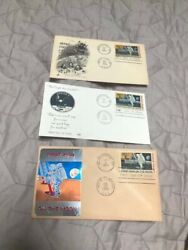 Three 1969 Man On The Moon Post Cards W/stamps On Them- See Pics