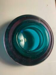 Murano Art Glass Geode Bowl Sommerso Italy Vintage