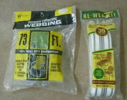 Vintage Outdoor Furniture Webbing Wllington 73 Feet And 39 Feet Packages Nos