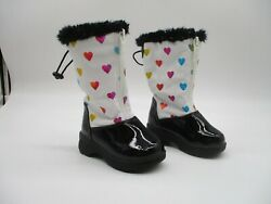 Totes Kylie Multi-color Hearts All Weather Boots Faux Fur Toddler Boots Size 5