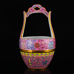 8.8 Chinese Antique Old Porcelain Gilt Red Famille Rose Flower Pattern Teapots