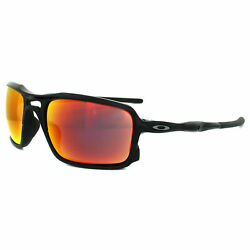 Oakley Sunglasses Triggerman OO9266 03 Polished Black Ruby Iridium $64.99