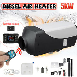 Chauffage Diesel Air Heater 5kw 12v Avec Lcd Kit Voiture Camion Bus Camping Cars