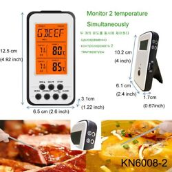 Thermometer Wireless Bbq Meat Digital Cooking Grill Food Oven Smoker Probes