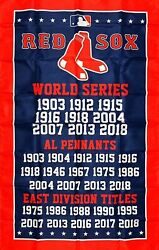 Boston Red Sox World Series Championship Flag 3x5 ft Sports Banner Man Cave New