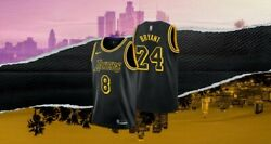 Los Angeles Lakers Kobe Bryant Youth City Edition Swingman Jersey Youth Large
